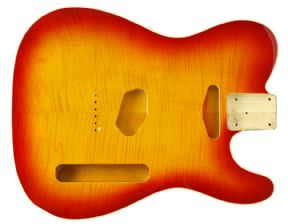 TELE BODY BOUND FLAME CHERRY SUNBURST